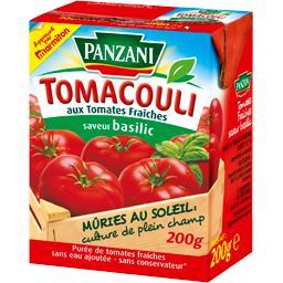 Tomacouli aux tomates fraîches saveur basilic