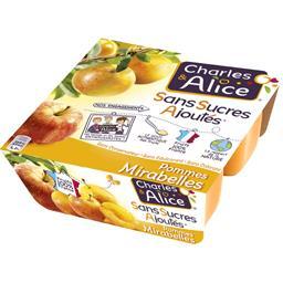 Pommes mirabelles sans sucres ajoutés
