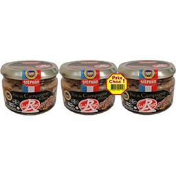 Stéphan Pâté de campagne breton Label Rouge les 3 pots de 180 g