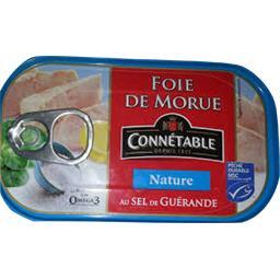 Foie de morue nature au sel de Guérande
