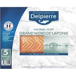 Delpierre Saumon fumé Laponie le paquet de 5 tranches - 125 g