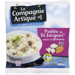 Poêlée de St-Jacques cuisinée à la bretonne