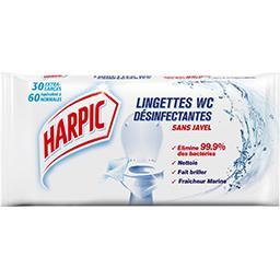 Lingettes WC désinfectantes sans javel fraîcheur mar...
