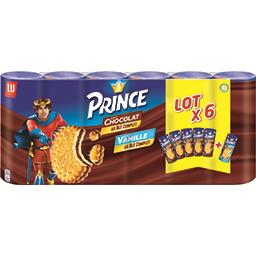 Prince - Biscuits fourrés goût chocolat et goût vani...