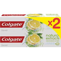 Colgate Dentifrice Natural Extracts goût citron-menthe
