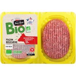 Bio Jean Rozé Steaks hachés BIO 15% MG la barquette de 250 g