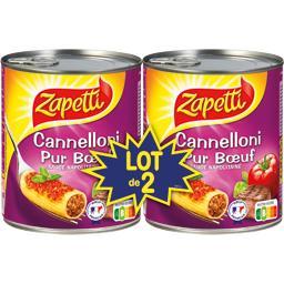 Buitoni Zapetti Cannelloni pur bœuf sauce napolitaine le lot de 2 boites de 800 gr
