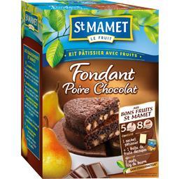 Kit pâtissier avec fruits fondant poire chocolat