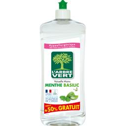 L'Arbre Vert Liquide vaisselle & mains concentré menthe basilic le flacon de 500 ml
