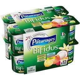 Laits fermentés Bifidus sucrés aromatisés
