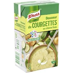 Soupe Douceur de courgettes au chèvre frais