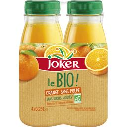 Jus d'orange bio s/pulpe s/sucres ajoutés Joker