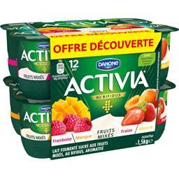 Yaourts panaché fruits mixés Activia