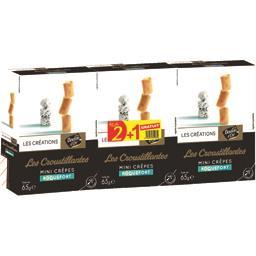 Les Créations Les Croustillante Mini Crêpes roquefort le boites de 65 g