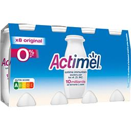 Actimel - Yaourts à boire 0% MG nature