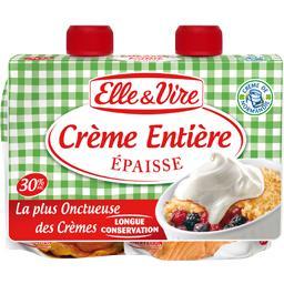 Crème épaisse Elle & Vire,ELLE & VIRE,les 2 briques de 17cl