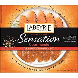 Sensation Gourmande - Saumon fumé graines croquantes