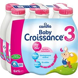 Baby Croissance - Lait de suite liquide 3, 10-24 moi...