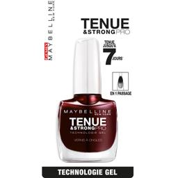 Tenue & strong pro, vernis à ongle 287, couleur rouge couture