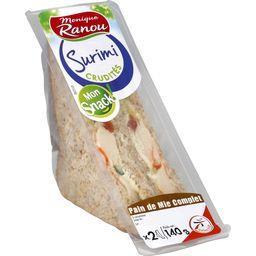 Mon Snack ! - Sandwich surimi crudités