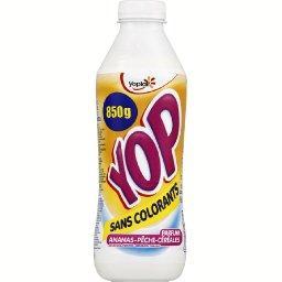 Yop - Yaourt à boire parfum ananas, pêche, céréales