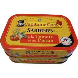Capitaine Cook Sardines à la tomate et au pistou les 2 boites de 115g