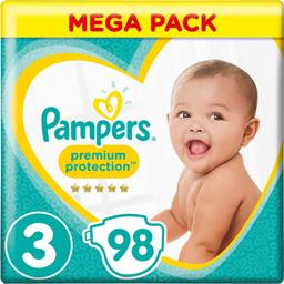 Pampers premium taille 3, 98 couches