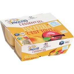 Paquito L'Essentiel - Purée de pommes poires les 4 pots de 100 g