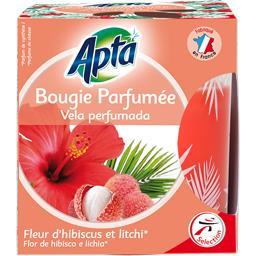 Bougie parfumée fleur d'hibiscus et litchi