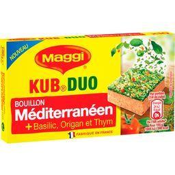 Bouillon Kub Duo méditerranéen basilic origan thym
