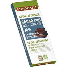 Chocolat noir Equateur cacao cru 70% BIO