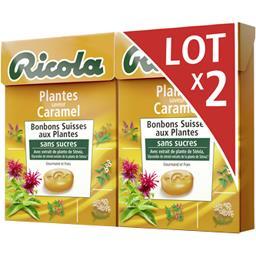 Ricola Bonbons suisses aux plantes sans sucres saveur caram... les 2 boites de 50 g