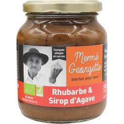Compote allégée en sucre rhubarbe & sirop d'agave BI...