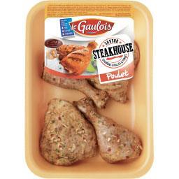 Cuisse de poulet découpées saveur Steakhouse