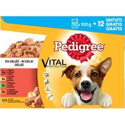 Pedigree Vital Protection - Pâtée en gelée aux viandes les 12 sachets de 100 g