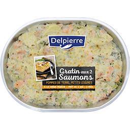 Gratin aux 2 saumons pomme de terre & légumes