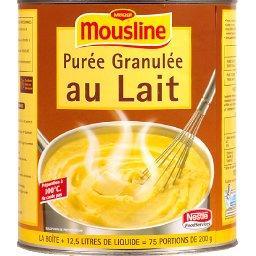 Mousline, purée granulée au lait