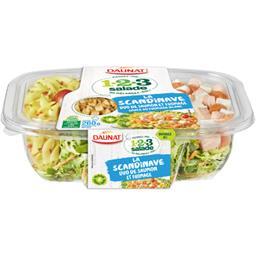 1.2.3 salade - Salade saumon fumé fromage sauce bulg...