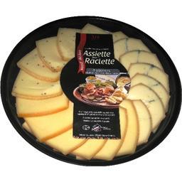 Assiette raclette 3 saveurs Morbier lait cru moutarde