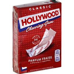 Hollywood Chewing-gum parfum fraise les 5 paquets de 31 g