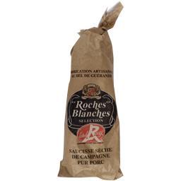 Roches Blanches Saucisse sèche de campagne pur porc Label Rouge la saucisse de 200 g