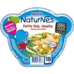 Petits pois, volaille et touche de crème, dès 18 mois, l'assiette de 250 g,NATURNES,l'assiette de 250 g