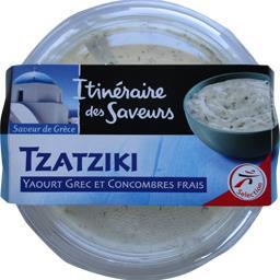 Tzatziki yaourt grec et concombres frais