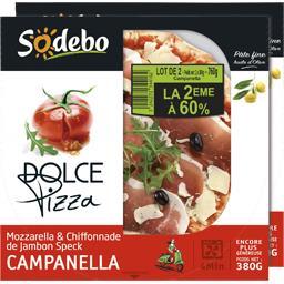 Sodebo Dolce Pizza - Pizza Campanella mozzarella & chiffonn... le boites de 380 g