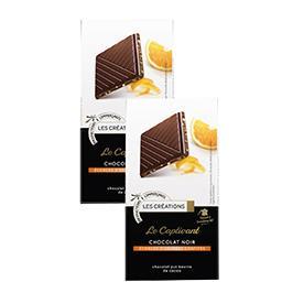 Le Captivant chocolat noir écorces d'oranges confites