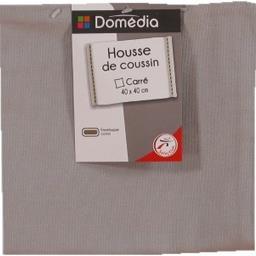 Housse de coussin carré 40x40 cm gris clair