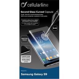 Verre trempé anti-choc contours noirs pour Samsung Galaxy S9