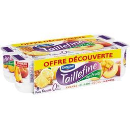 Taillefine Yaourt brassé aux fruits ananas citron pêche mangue les 8 pots de 125 g - Offre découverte