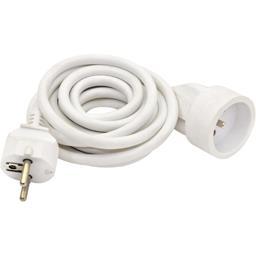 Prolongateur électrique 3G1,5mm 2m 16A, blanc