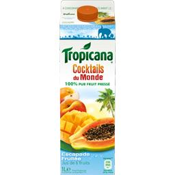 Tropicana Escapade Fruitée - Cocktails du monde 100% pur fruit... la brique de 1 l